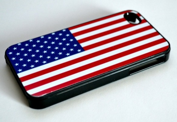 For 4th of July iphones how about this American flag Iphon case